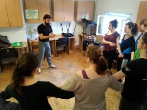Warsztaty tańca z Tanasisem Kalandzisem, grudzień 2014 r.